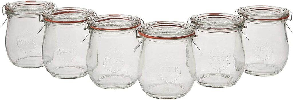 6 Mini Tulip Jelly Jar with Glass Lids 6 Rings and 12 Clamps $26.99