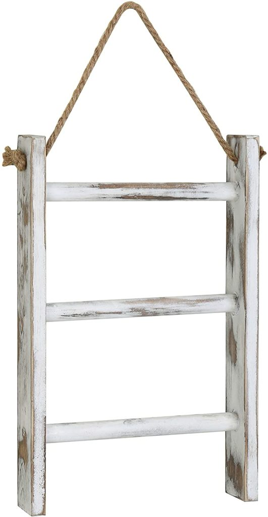 3-Tier Mini Whitewashed Wood Wall-Hanging Hand Towel $24.99