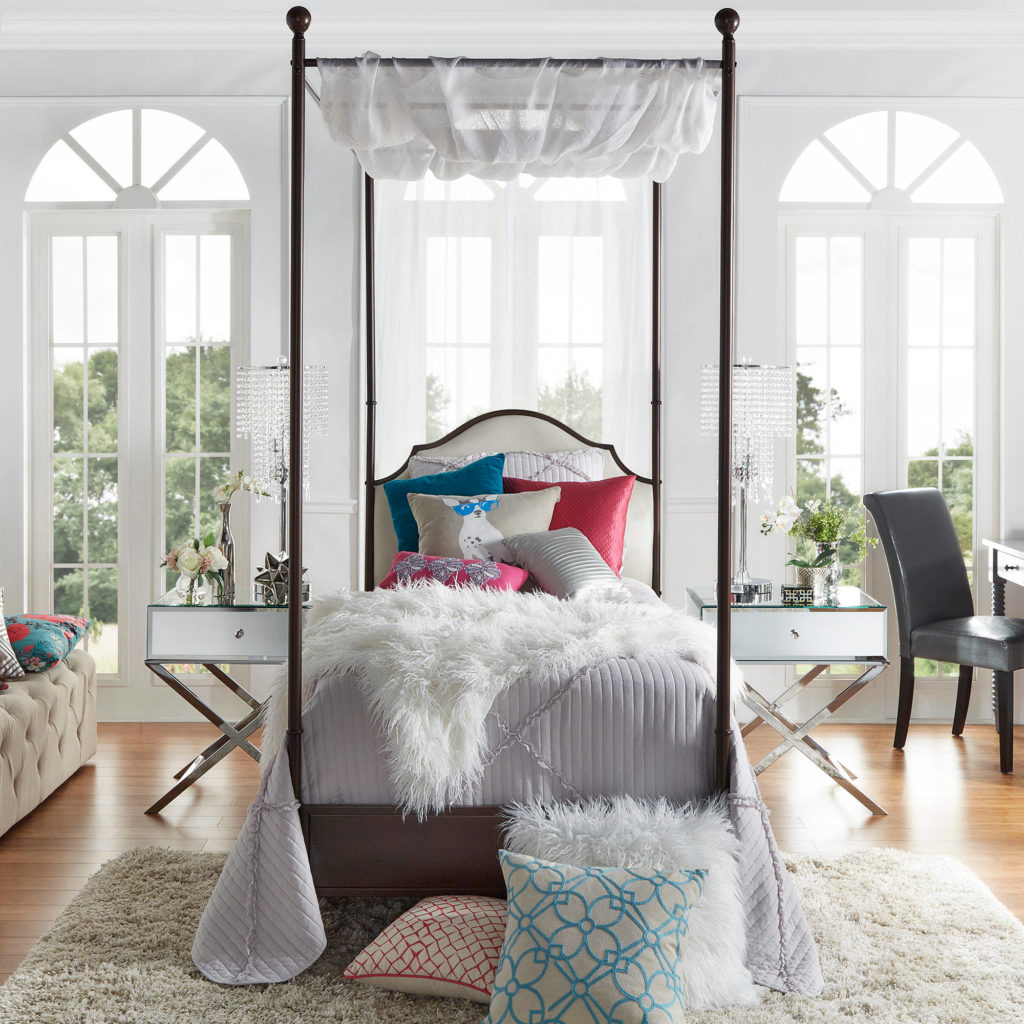 Weston Home Swindon Antique Bronze Metal Canopy Bed, Multiple Sizes $358.89