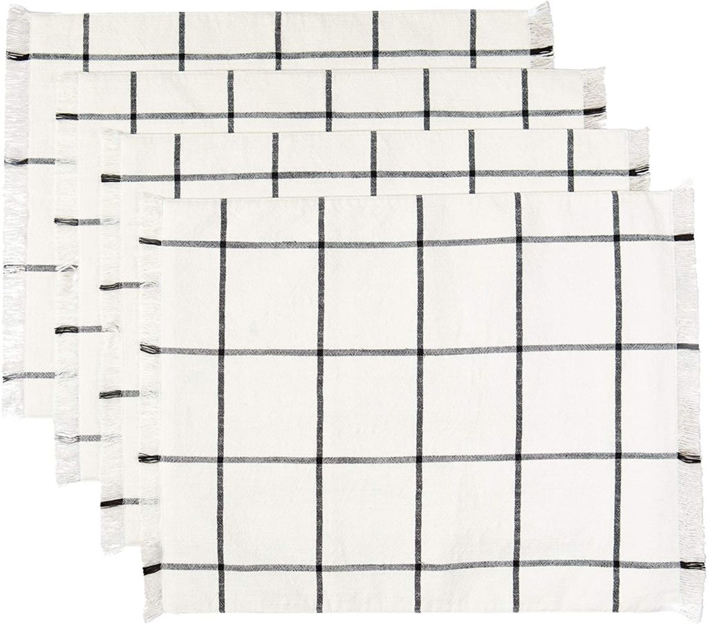 Farmhouse Plaid Placemat Set, 14 in x 19 in, 4 Pack $17.99