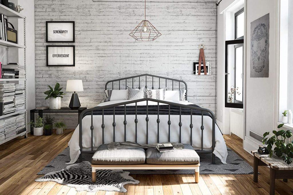 Novogratz Bushwick Metal Bed, Modern Design $169.49