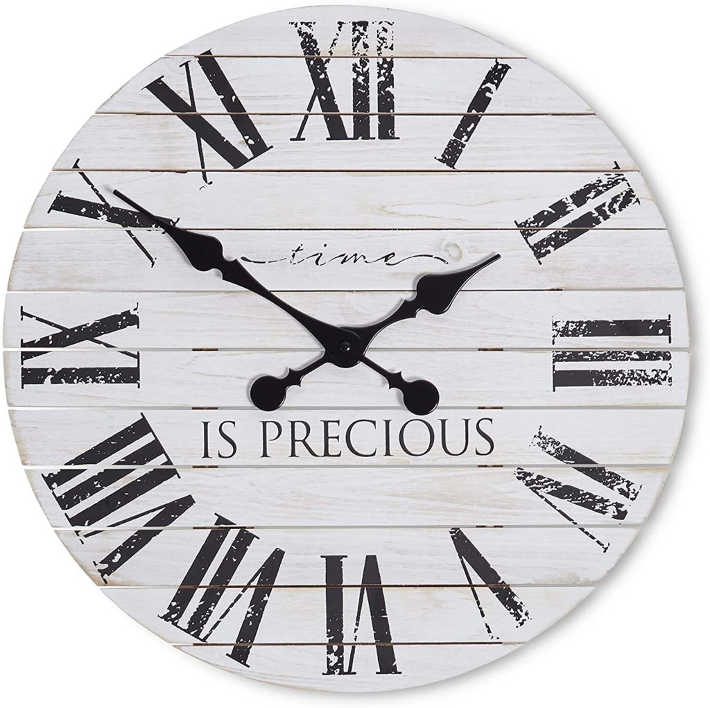 Farmhouse Clock - Scripted - Rustic Decor $42.99