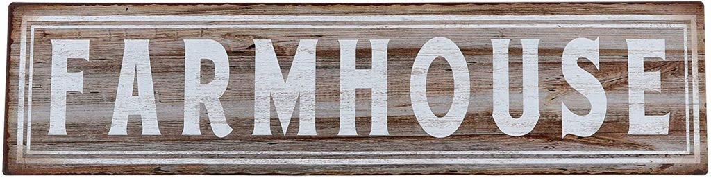 Farmhouse Retro Vintage Tin Bar Sign $12.95