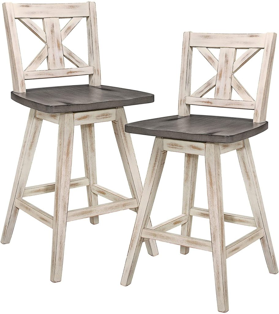 Amsonia Counter Height Swivel Stool (2 Pack), White $173.77
