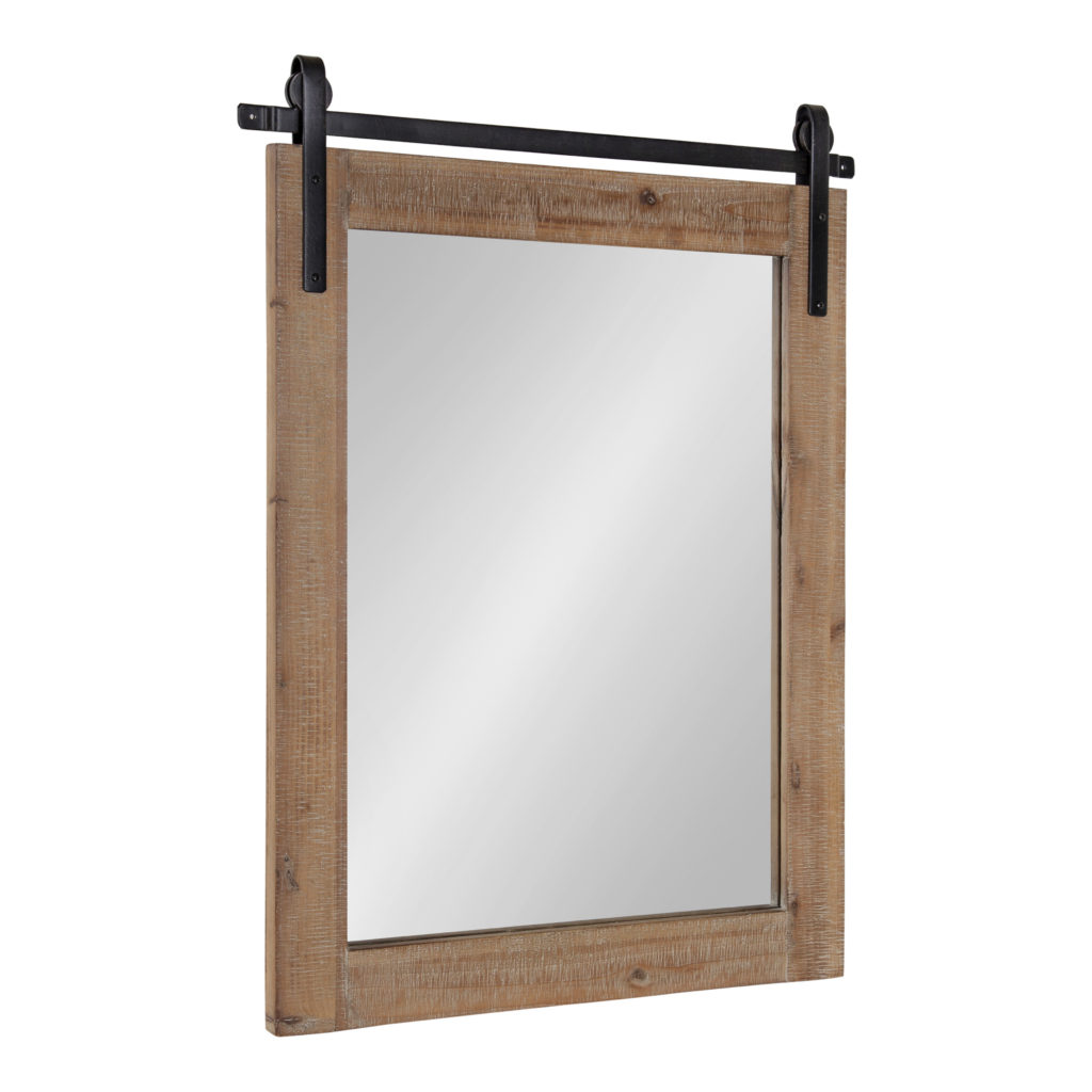 "Rustic Wall Mirror, 22"" x 30"" x .75"" Rustic Brown $129.99"