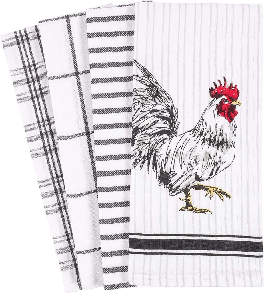 Rooster Kitchen Dish Towel 18 x 28-inch Set of 4 $12.99