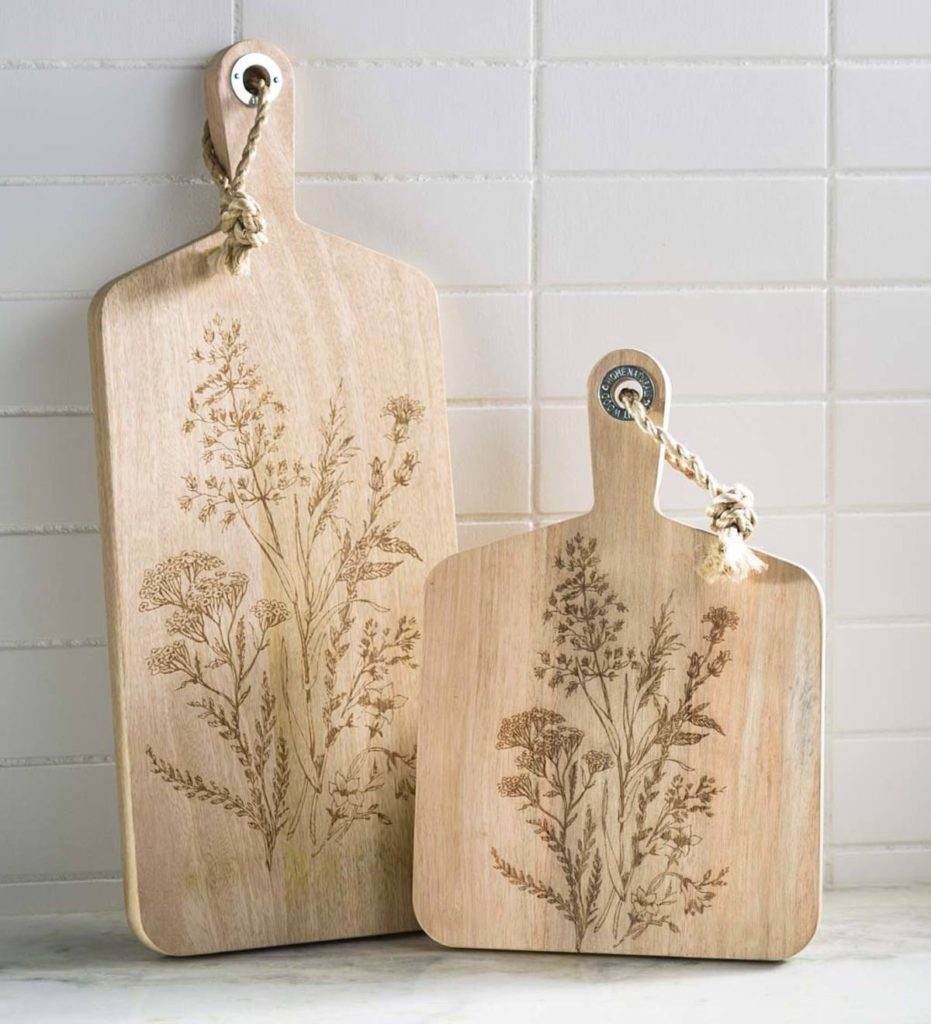 Wildflower Etched Serving Boards $32.99 - $42.99