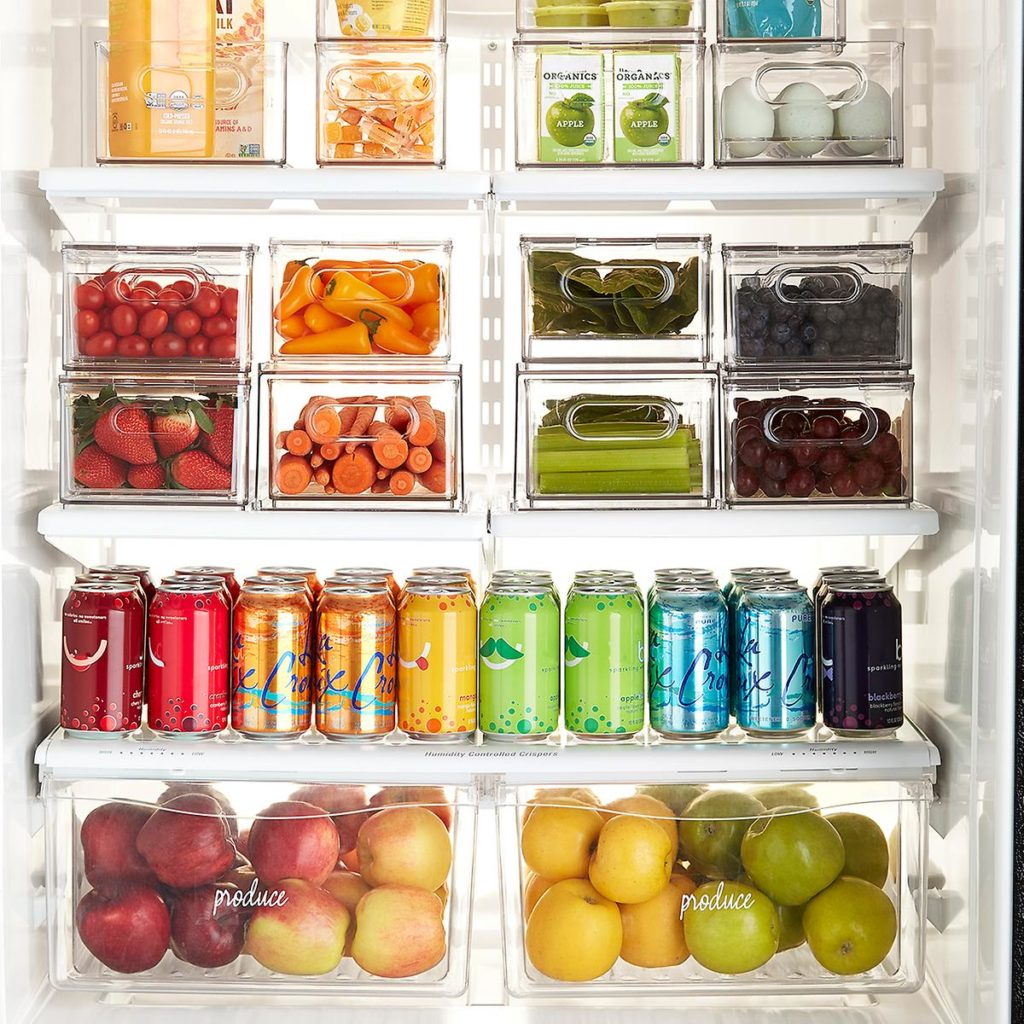 The Home Edit Divided Fridge Drawer $19.99