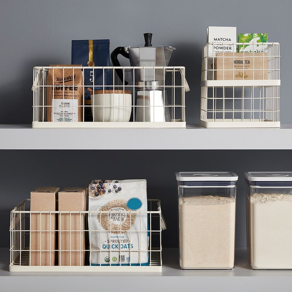 White Stacking Wire Bins $9.99-$16.99