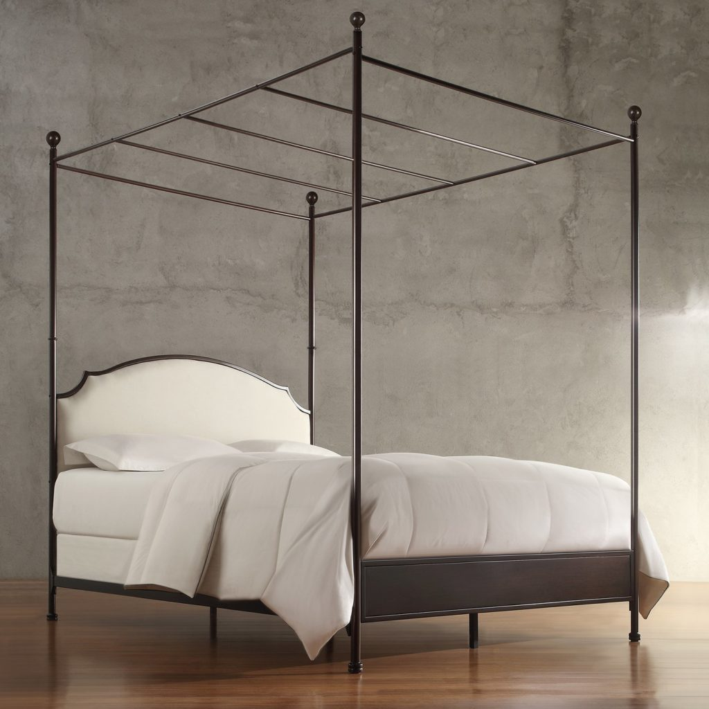 Weston Home Swindon Upholstered Metal Canopy Bed $662.30