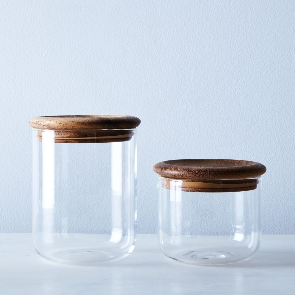 Baum Glass & Wood Airtight Canisters (Set of 2) $50–$55