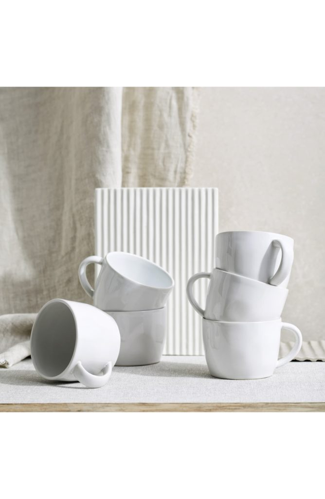 Portobello Set of 6 Mugs THE WHITE COMPANY $85.00