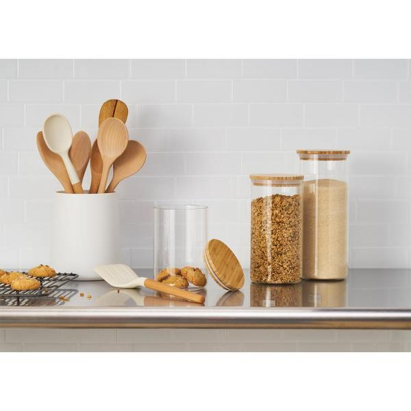 3-Piece Glass and Bamboo Canister Set $29.99