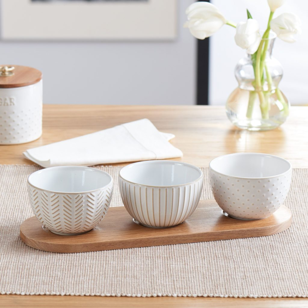 Modern Farmhouse Mix & Match Dip Bowl Set, 4 Piece $9.97