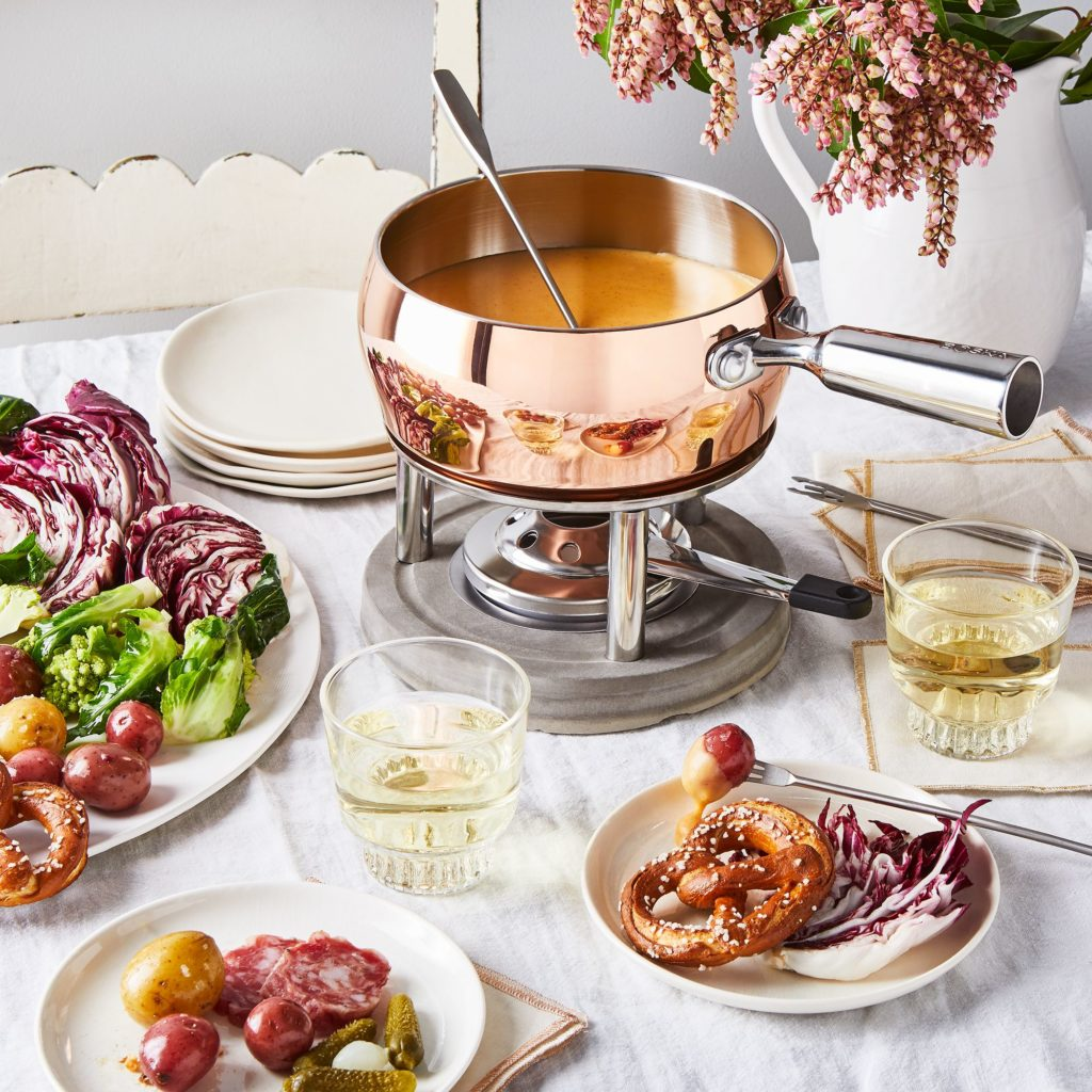 Copper & Concrete Fondue Set $139