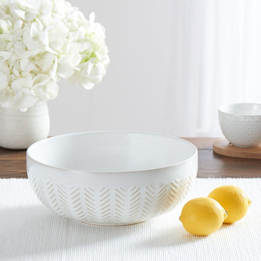 "Modern Farmhouse Mix & Match 10"" Geometric Serving Bowl $9.97"