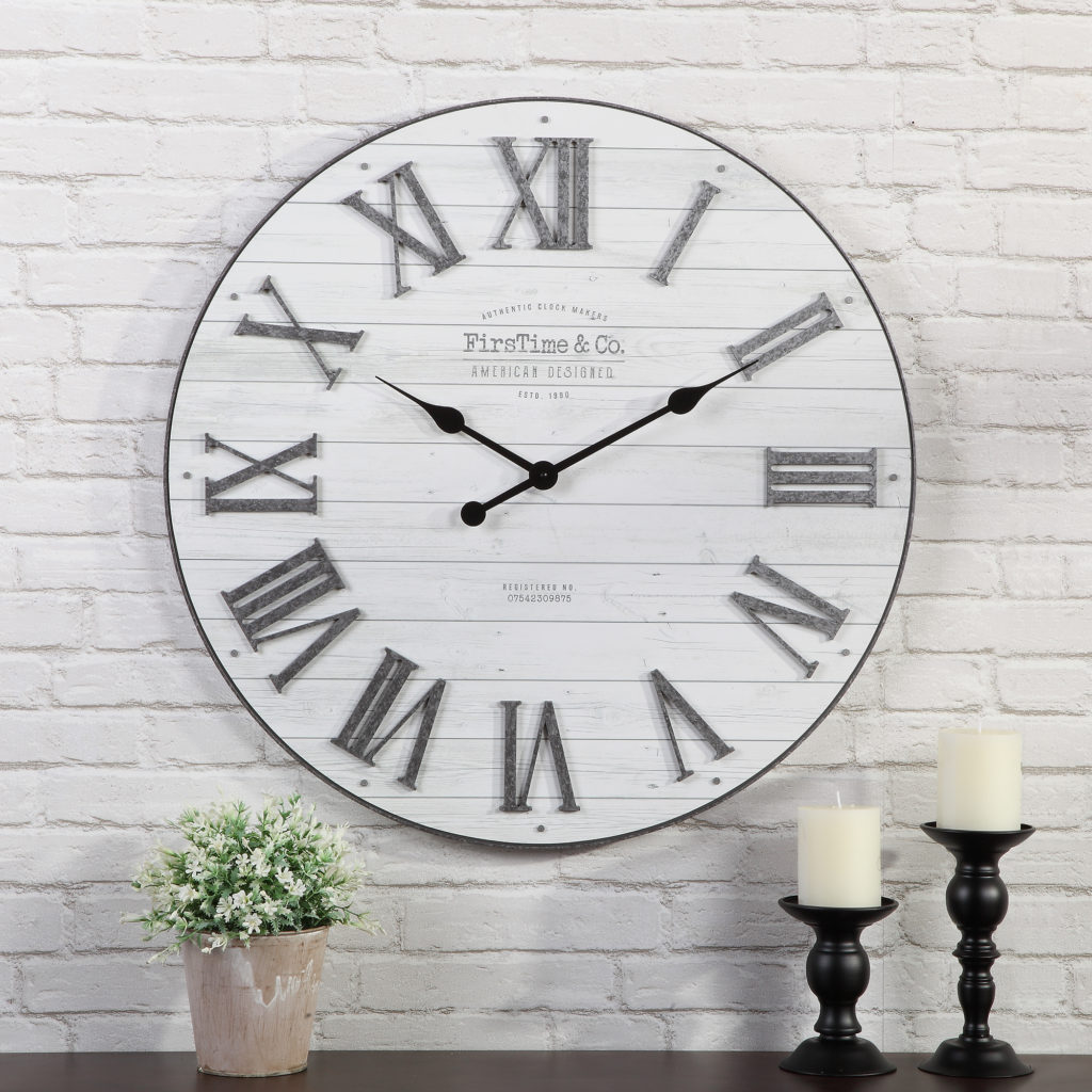 FirsTime & Co.® Emmett Farmhouse Shiplap Wall Clock $68.54