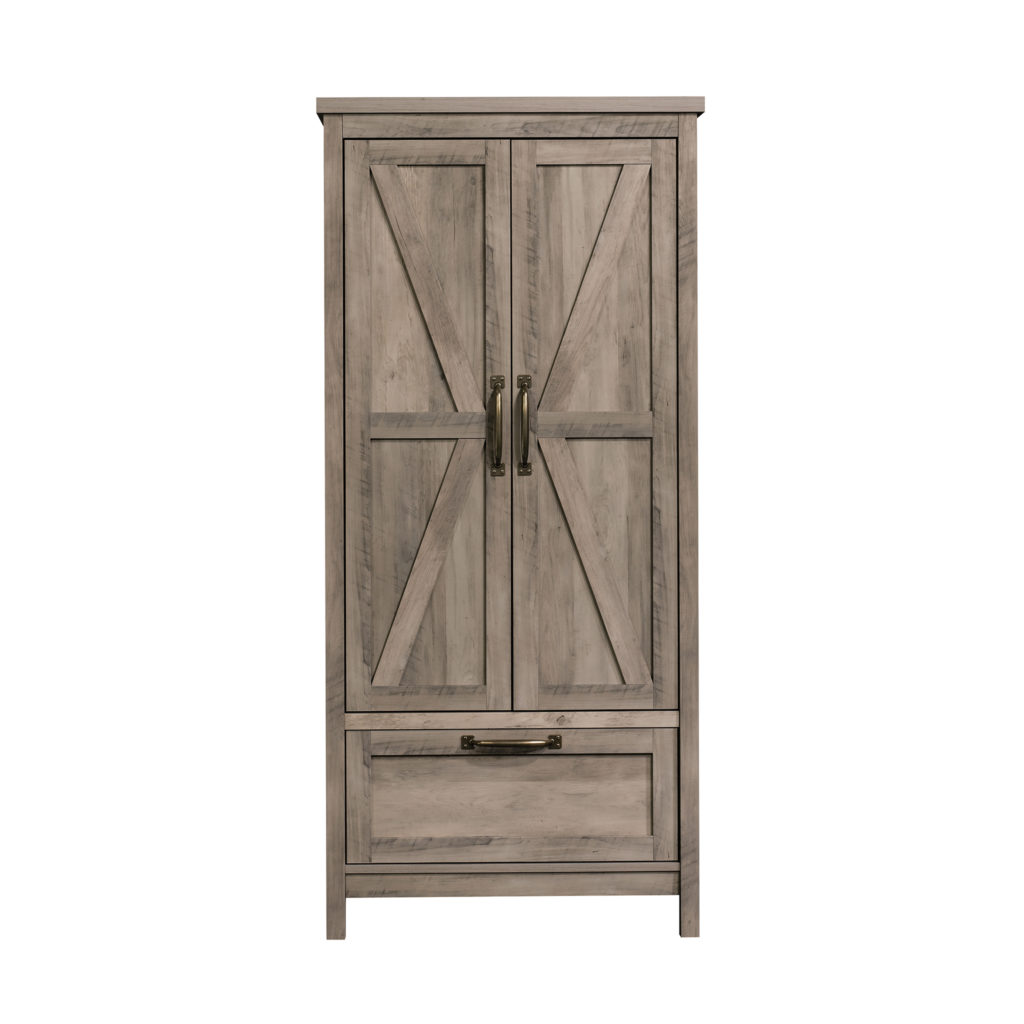 Better Homes & Gardens Modern Farmhouse Armoire, Rustic Gray Finish $274.34