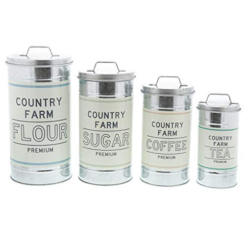 Country Decor for Flour Sugar Coffee Tea Storage (Large Set of 4)  $34.95