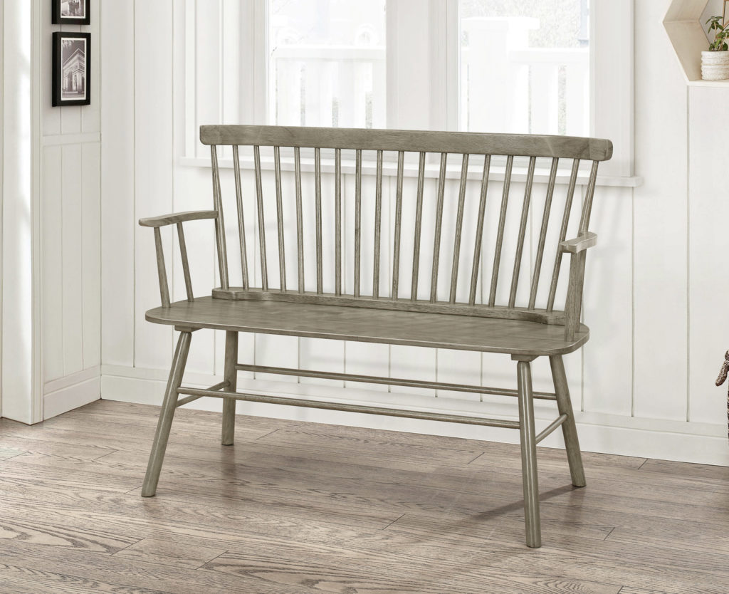 Jerimiah Entryway Spindleback Bench, Rustic Gray $149.00
