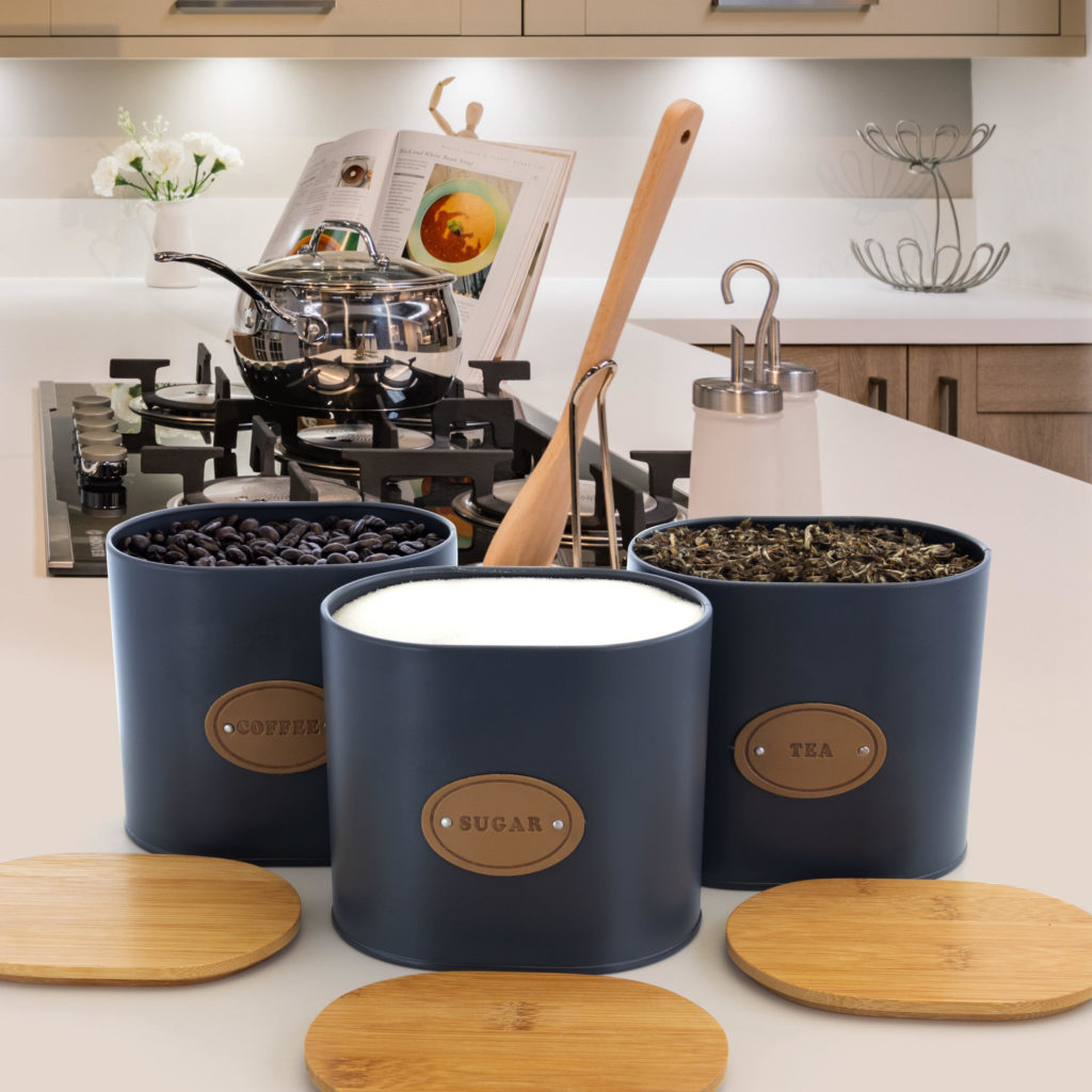 Kitchen Food Storage and Organization 5-Piece Canister Set with Bamboo Lids $39.99