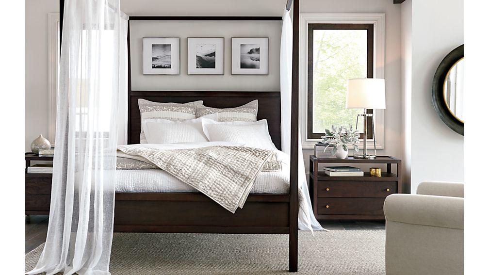 Keane Wenge King Canopy Bed $1,699.00