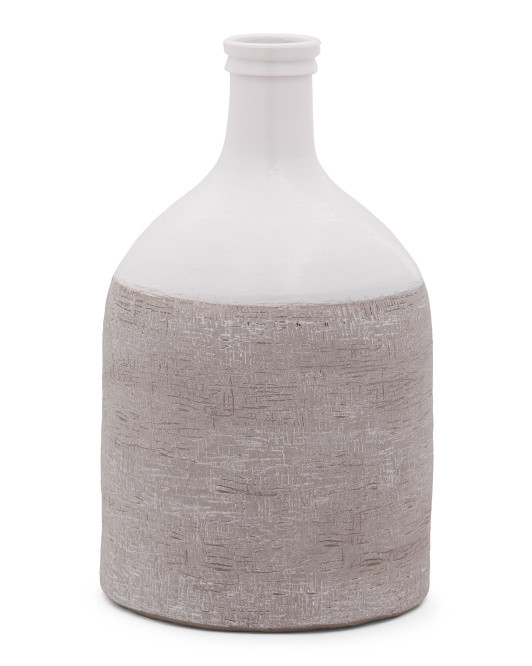 MADE IN PORTUGAL Textured Ceramic Vase $19.99