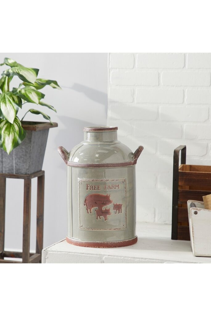 "Grey 12"" Ceramic Milk Jug $73.97"