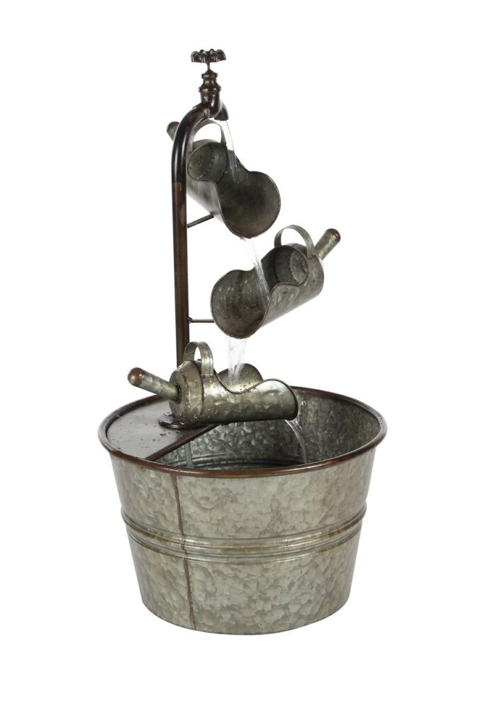 Grey Farmhouse Bucket Fountain $104.97
