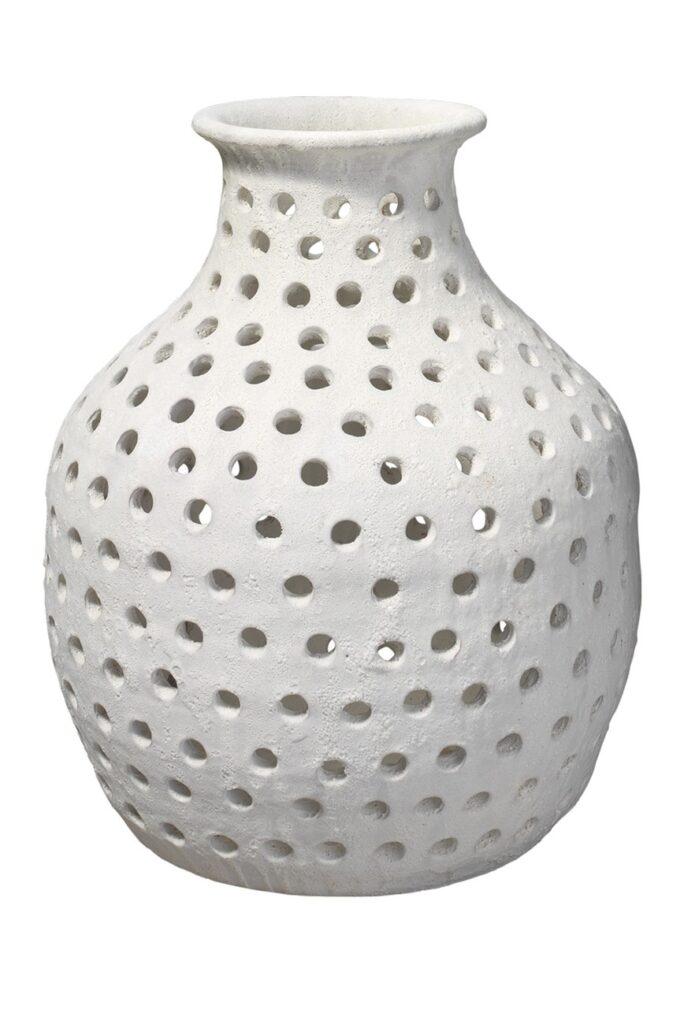 Small Porous Vase - Matte White Ceramic $249.97