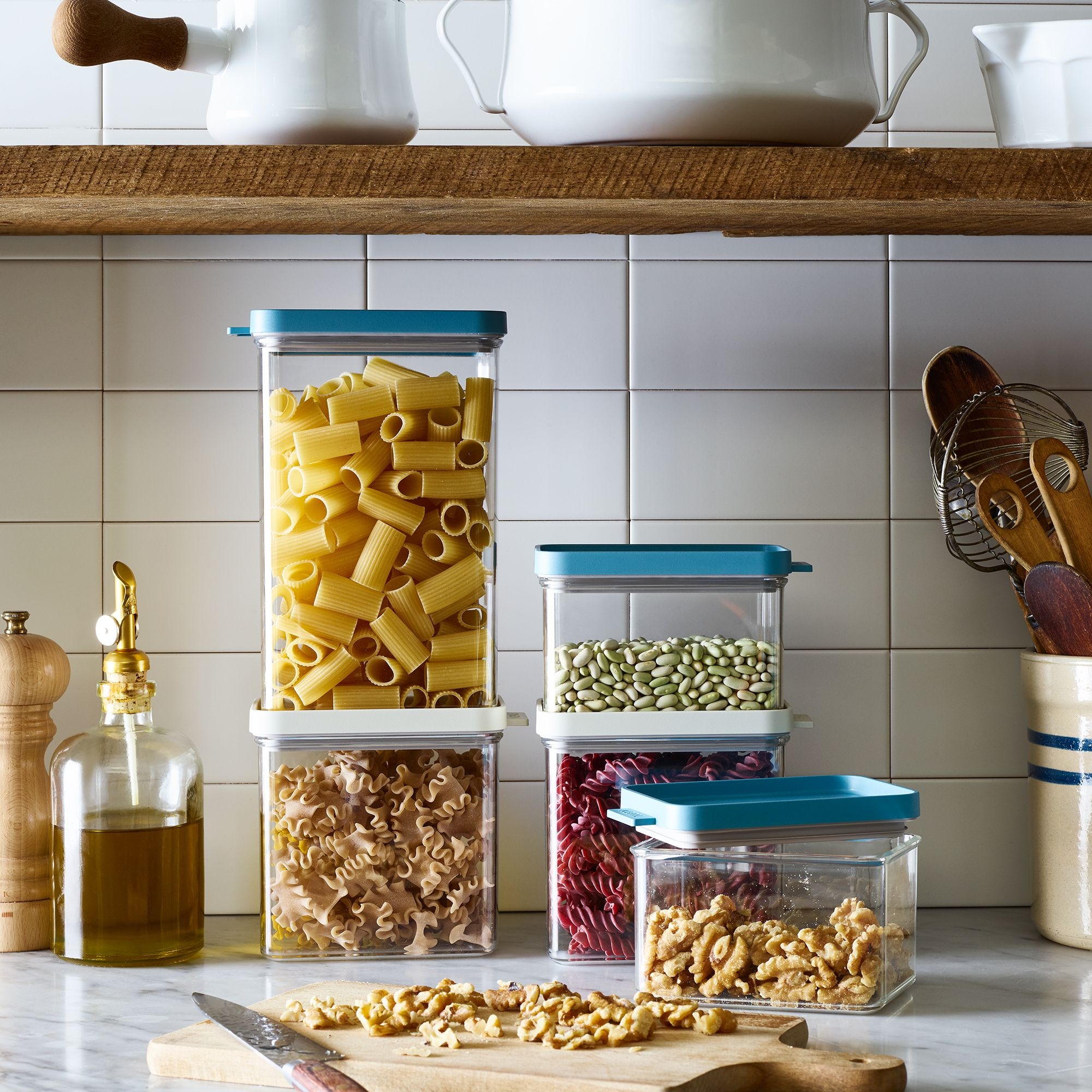Airtight Stackable Storage Containers (Set of 3)$46