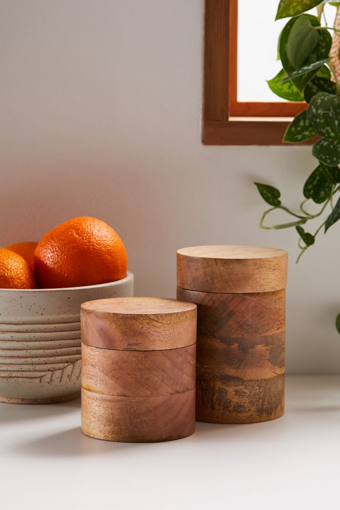 Small Wooden Canister $16.00