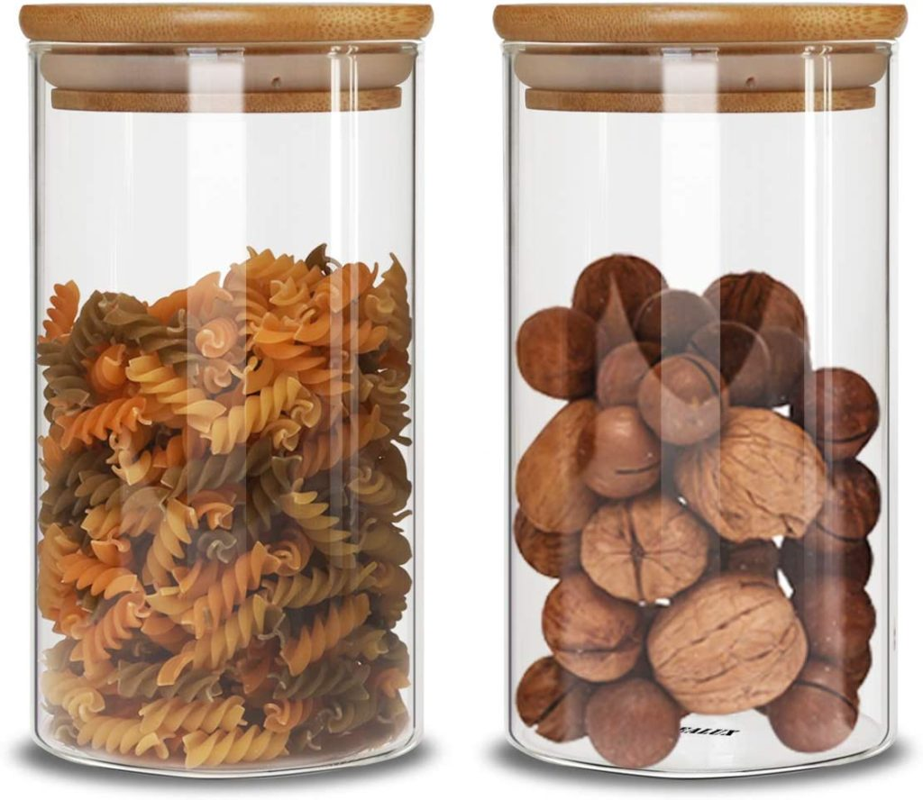 Food Storage Jar Set of 2(23oz) $21.99https://amzn.to/3fmz7RA