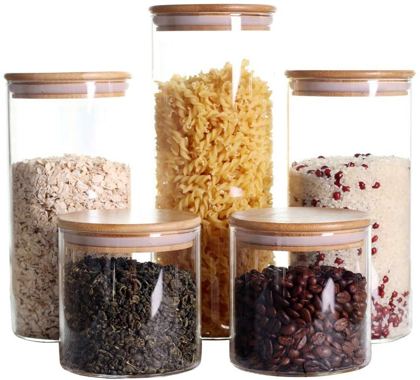 Stackable Kitchen Canisters Set, Pack of 5 $36.99