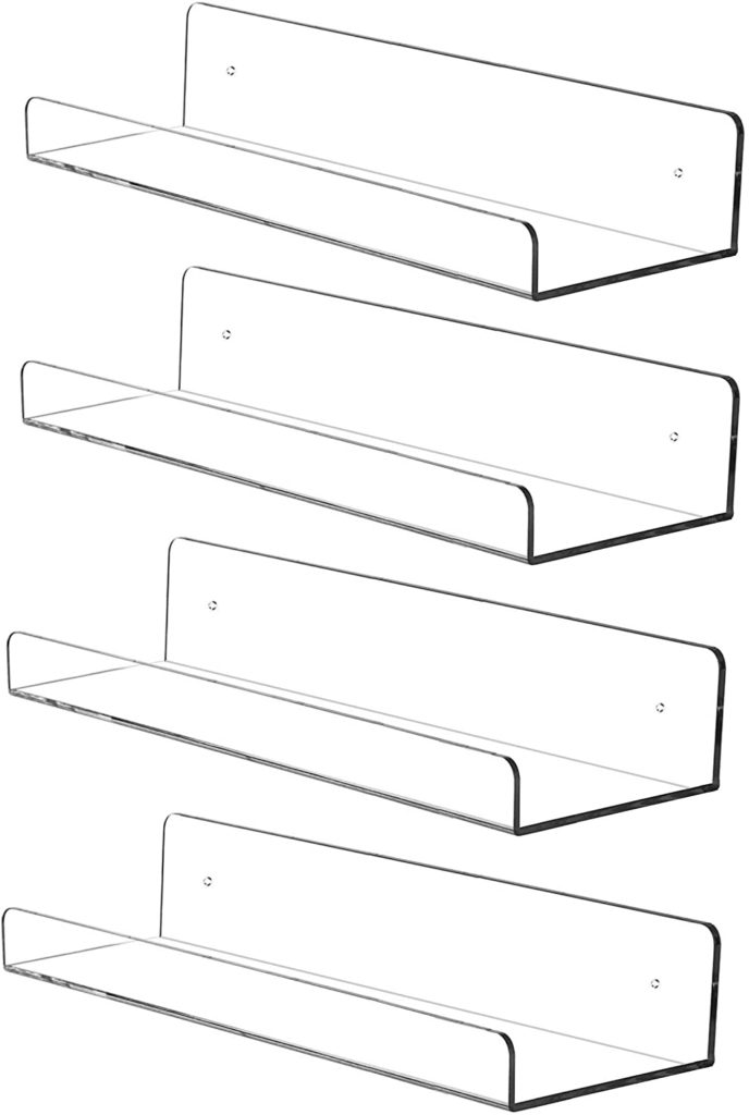 "15"" Invisible Acrylic Floating Wall Ledge Shelf $26.99 https://amzn.to/2D2WbI8"