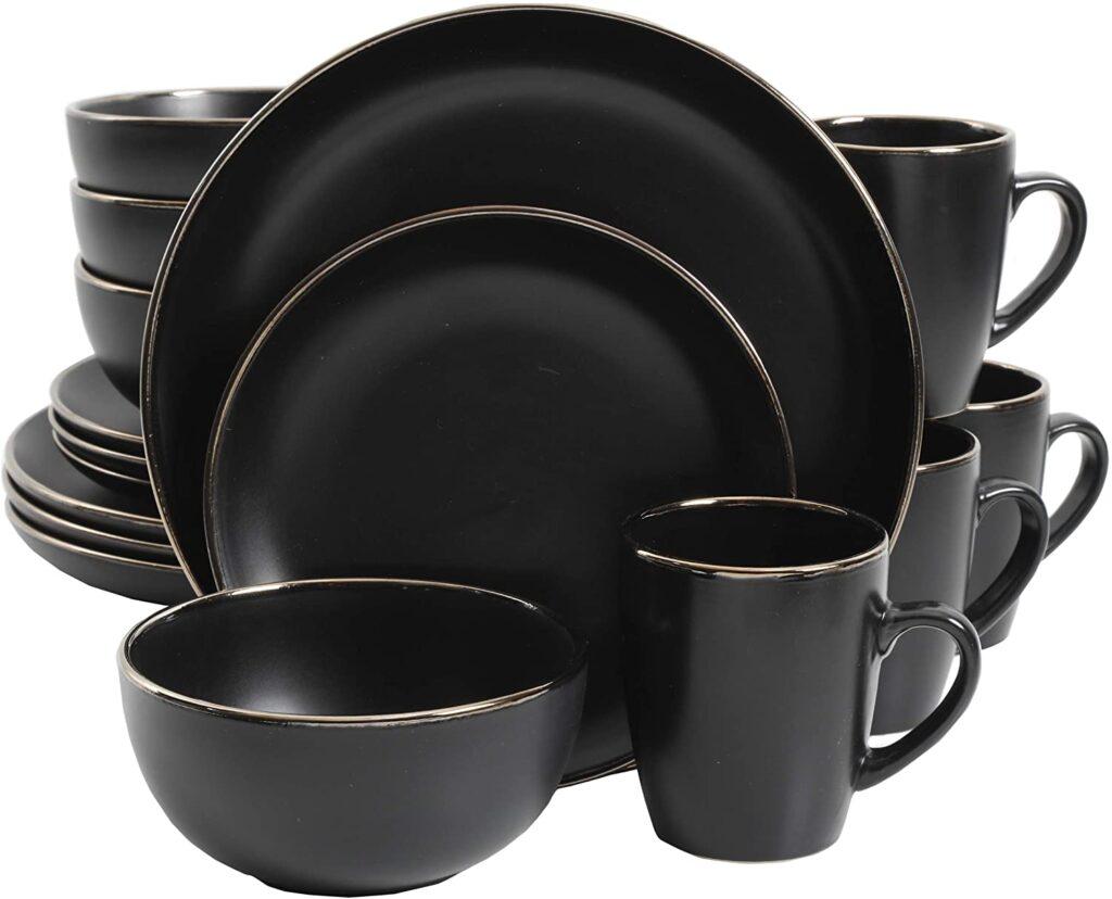 Stoneware Dinnerware Set, Service for 4 (16pcs) $45.20
