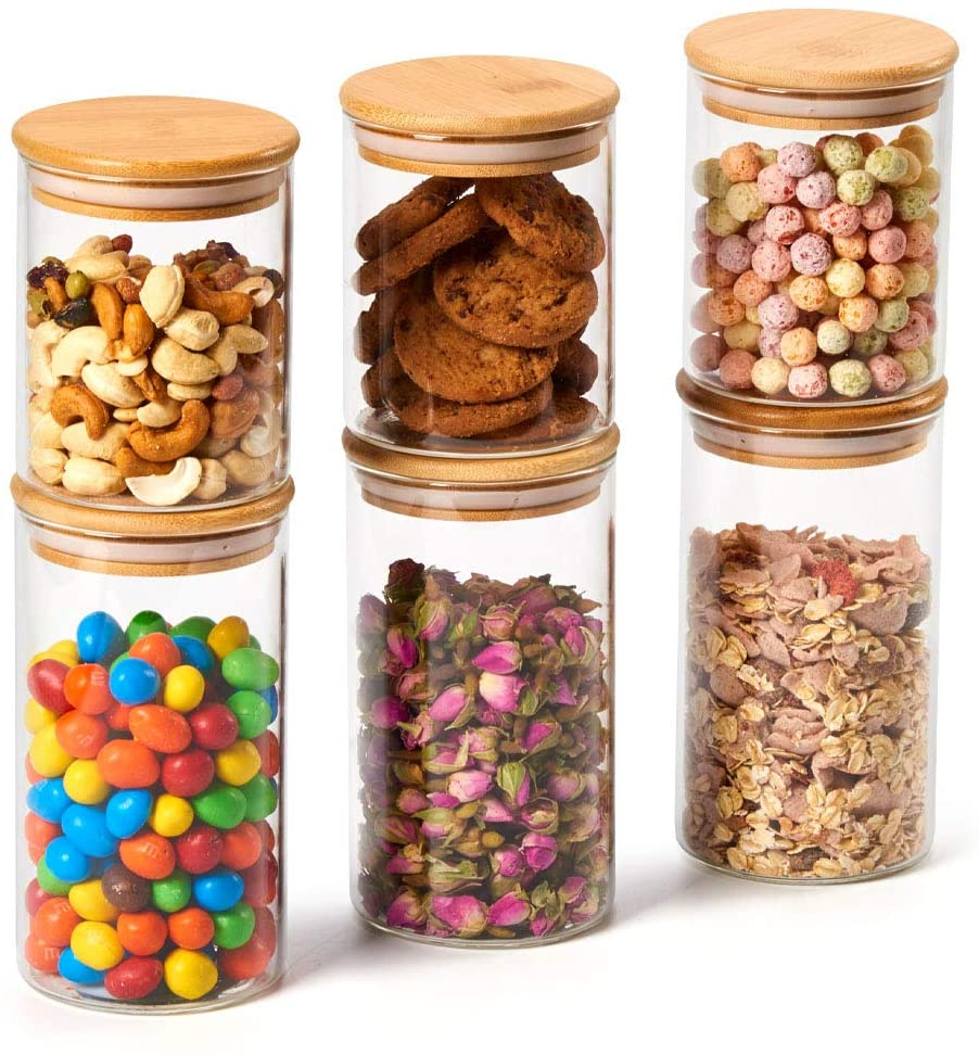 6 Piece Glass Jars Air Tight $30.99