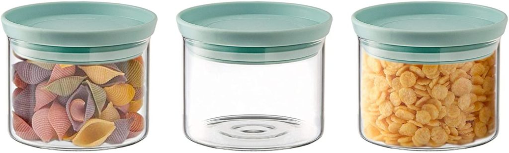 Stackable Organization Canister Glass Jars - Small, Set of 3 $18.95