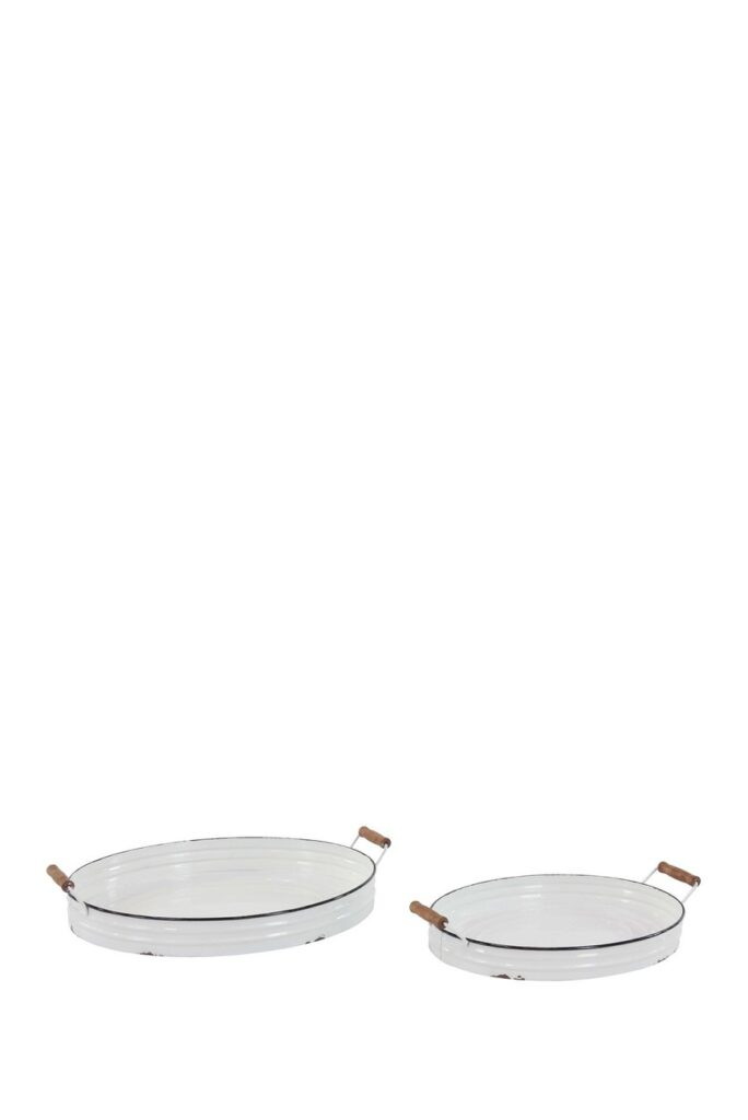 Metal Round Tray 2-Piece Set $69.97