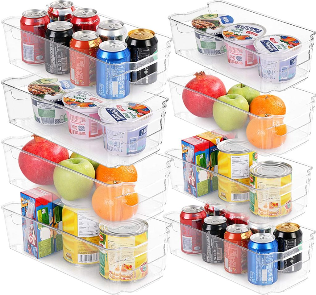 Set of 8 Refrigerator Pantry Organizers $29.99