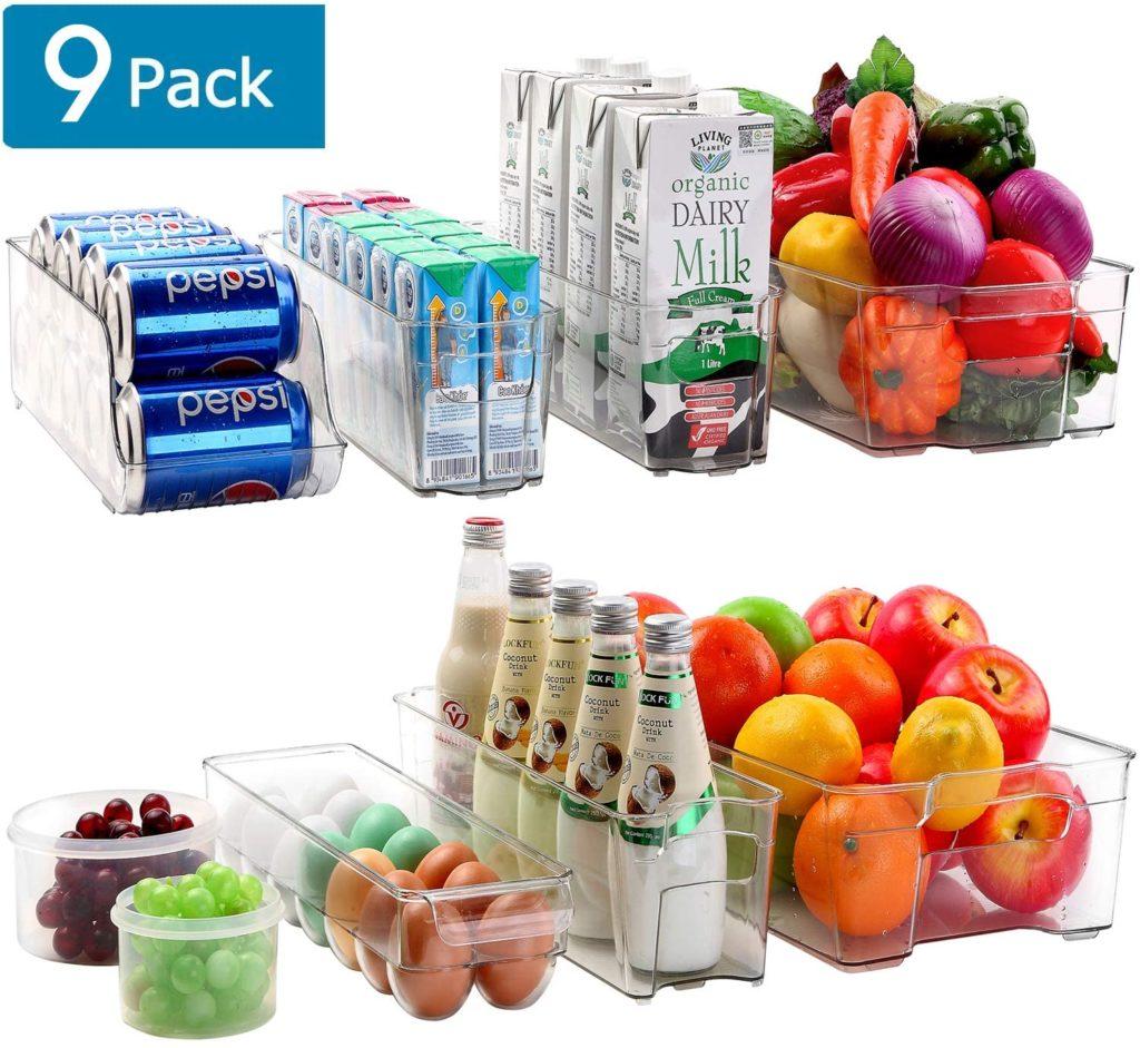 Cadriy Refrigerator Organizer Bins - Stackable Fridge Organizers $31.99