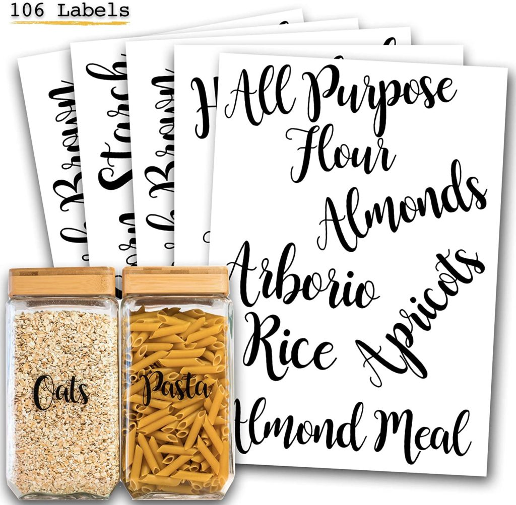 106 Pantry Labels Stickers $16.99 https://amzn.to/2DwgWvG