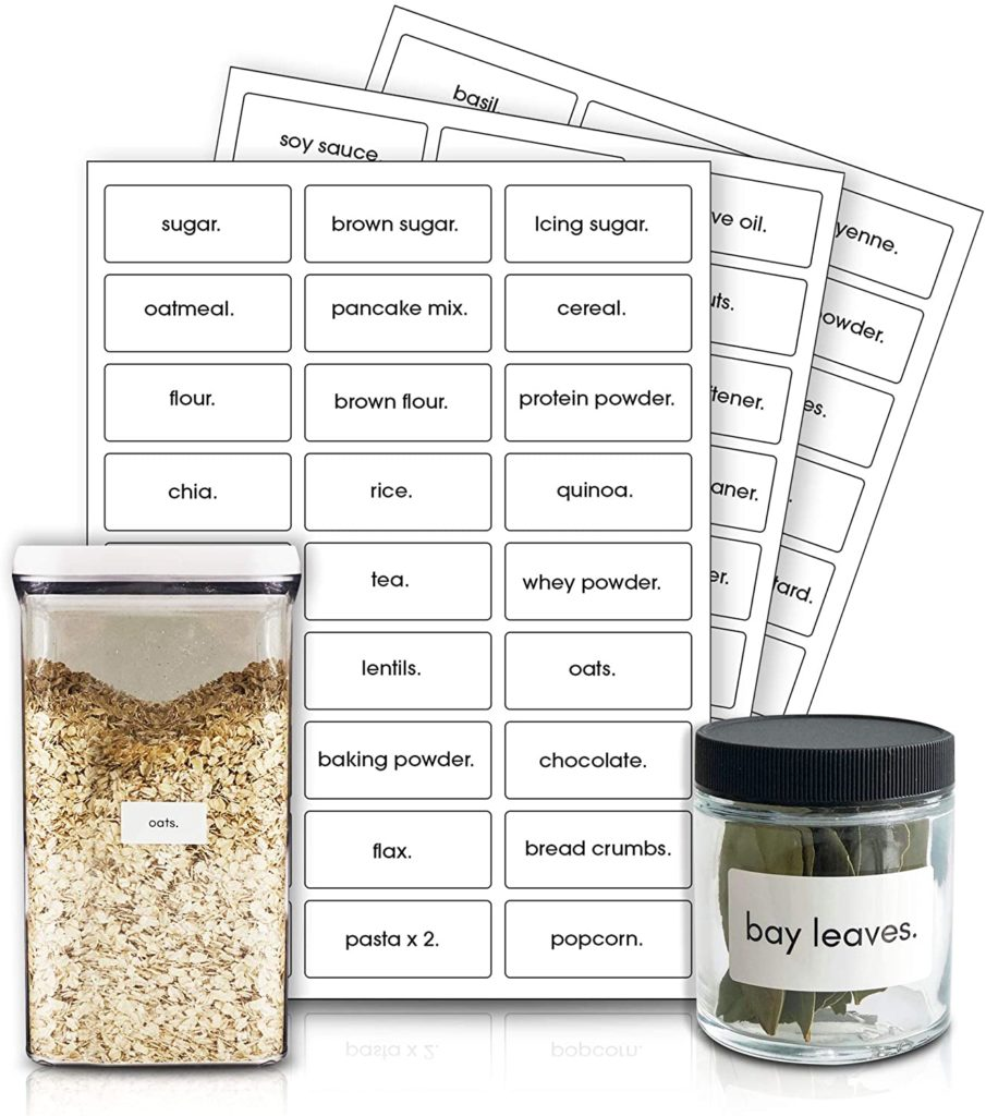Easy to Apply Waterproof Pantry Labels and Spice Jar Labels $9.99