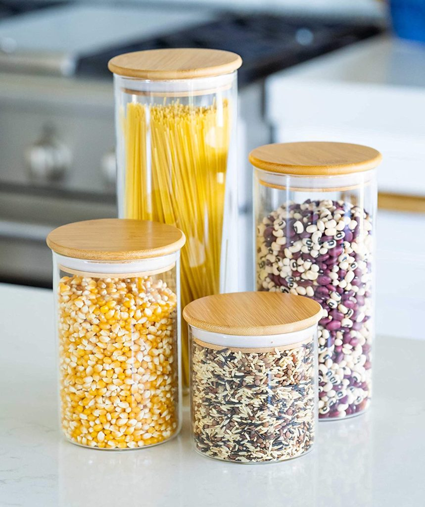 Glass Food Storage Containers with Lids - Set of 4 $39.87