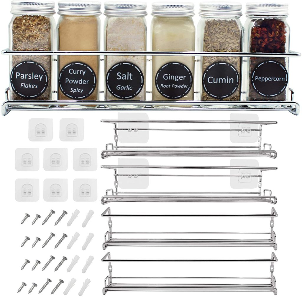 Spice Racks Organizer For Cabinet Door Mount $24.97 https://amzn.to/3k6zpQf