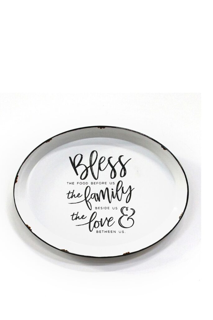 White Bless, Family, & Love Plate Wall Decor $32.97