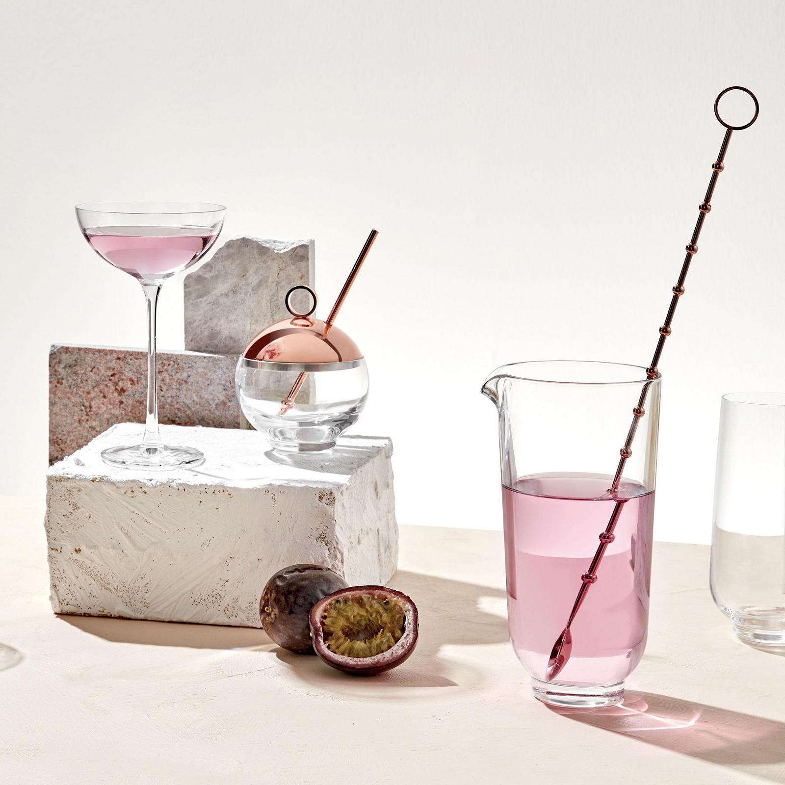 Hepburn 2-Piece Mixing Glass & Metal Stirrer Cocktail Set $71.99