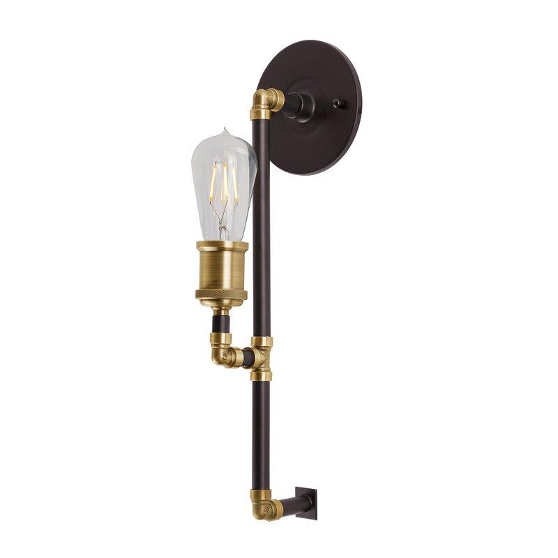 Dunamoy 1 - Light Black/Antique Brass Armed Sconce $63.99