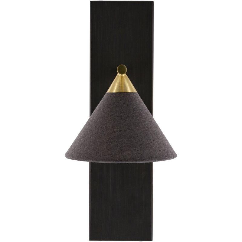 Adora 1 - Light Black/Gold Armed Sconce $105.99