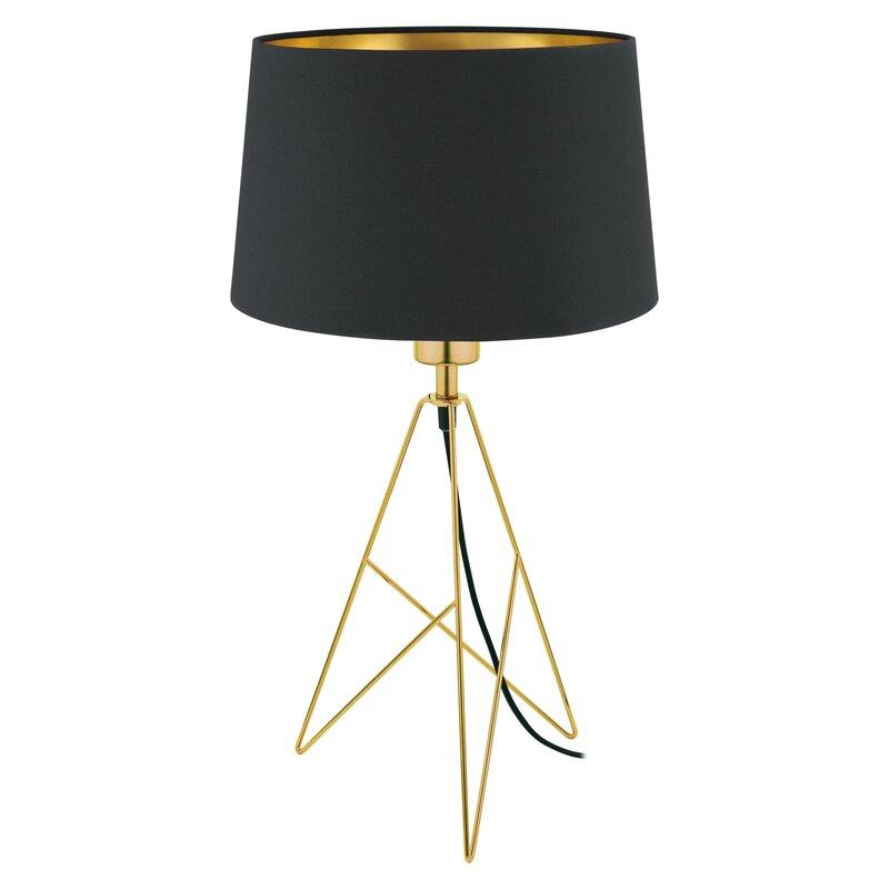"""Greco 22\"""" Gold Desk Tripod Table Lamp $122.99"""